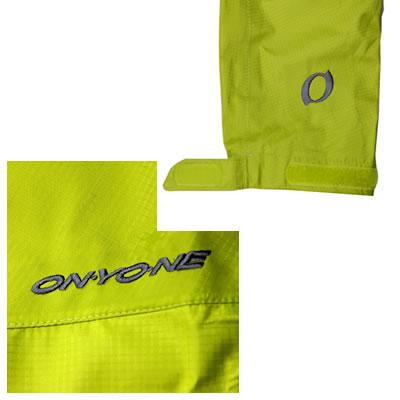 左胸にONYONE刺繍ロゴ・左袖にオーバル刺繍マーク付き 袖口はベルクロで調整が可能です。