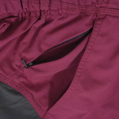 右ポケットにはポケットとは別にコンシールファスナーが付いており、小物等を落とさないよう収納できます。