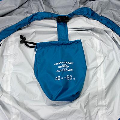 脱落防止収納袋 収納袋は紛失防止のためパックカバーと連結されています。