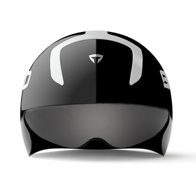 ヘルメット素材はポリスチレンとポリカーボネイトから構成され、非常に軽量で衝撃に対する吸収力を備えています。これらを結合することで耐久性とコンパクト性を実現しました。
