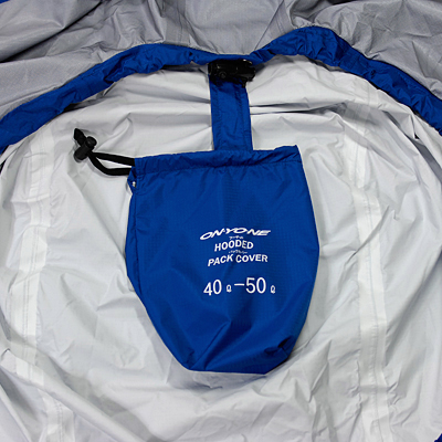パックカバー本体と袋を連結。本体使用時の収納袋紛失を防止します。
